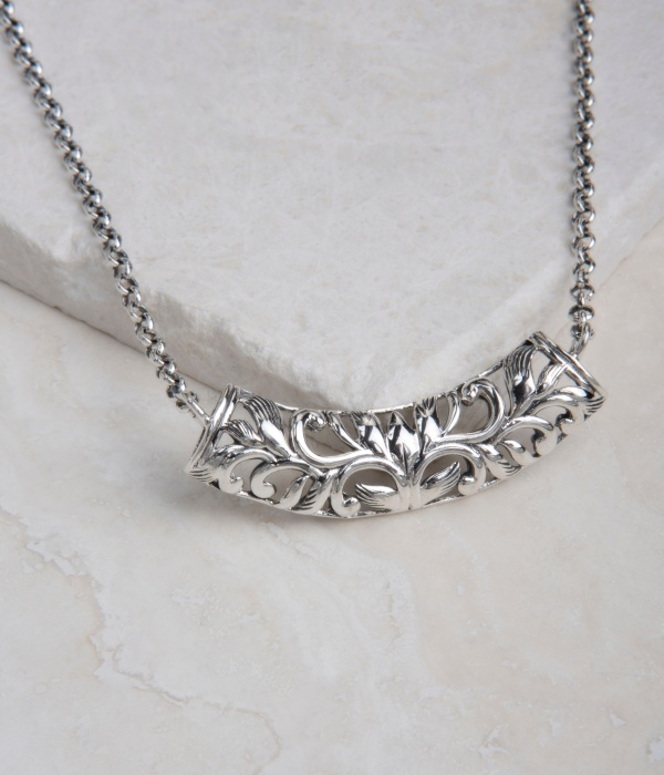 Opulenza designs sterling silver filigree necklace sterling silver filigree necklace aloadofball Image collections