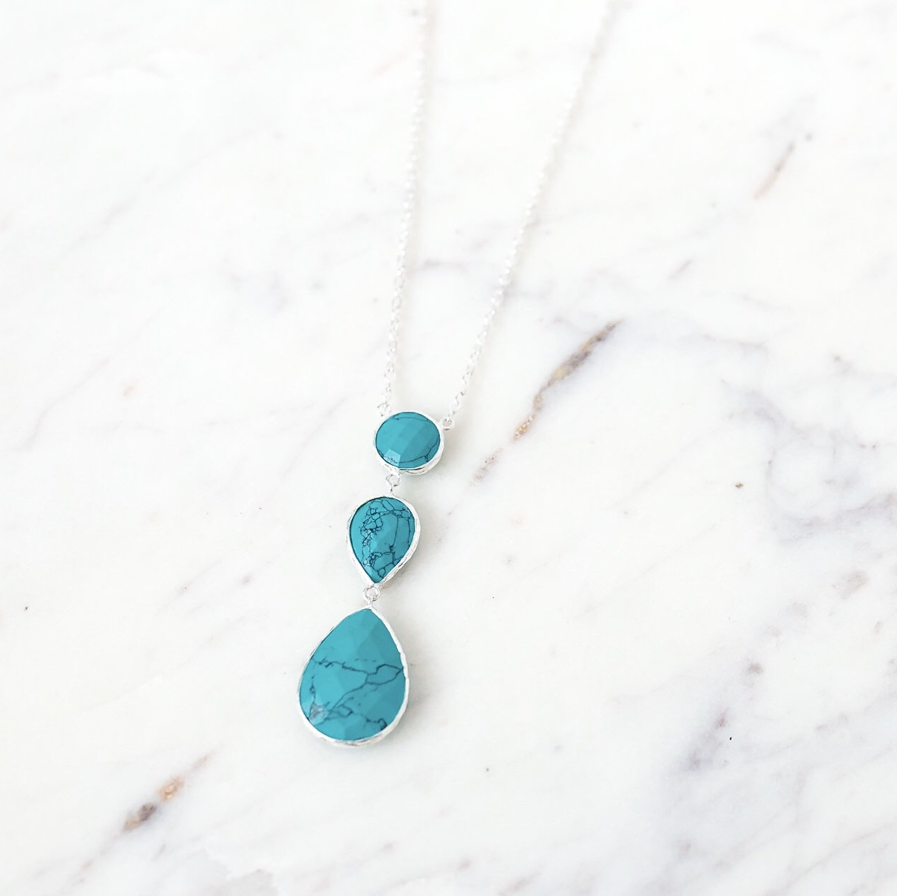 necklace product beehive byron bay turquoise